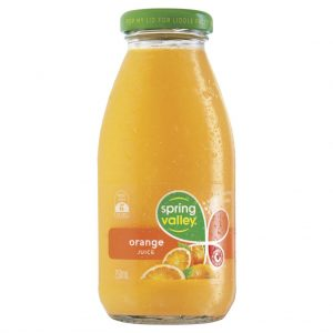 SPRING VALLEY – 250MLS – ORANGE JUICE – 30PK
