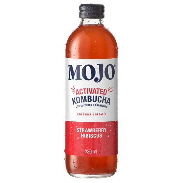MOJO – STRAWBERRY HIBISCUS – KOMBUCHA – 330MLS – 12PK
