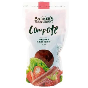 BARKER'S – RHUBARB & RED BERRY COMPOTE – 1KGS