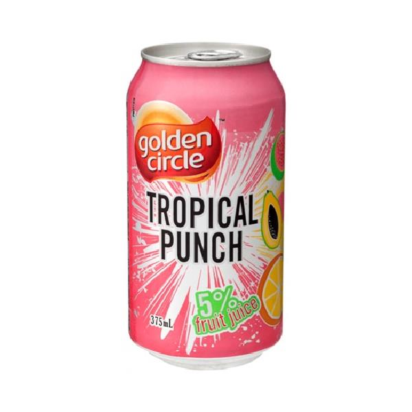 GOLDEN CIRCLE – CANS – TROPICAL PUNCH – 375MLS – 24PK