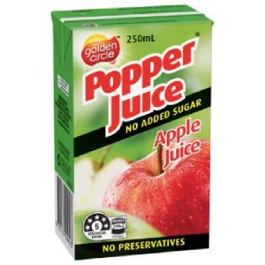POPPER – APPLE JUICE – TETRA – 250MLS – 24PK